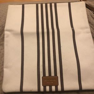 Henri Bendel  canvas zippered  pouch
